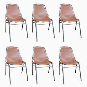 Les Arcs Chairs by Charlotte Perriand for Cassina, 1960s, Set of 6