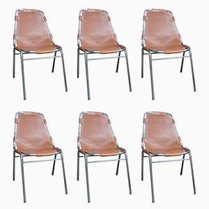 Les Arcs Stühle von Charlotte Perriand für Cassina, 1960er, 6er Set