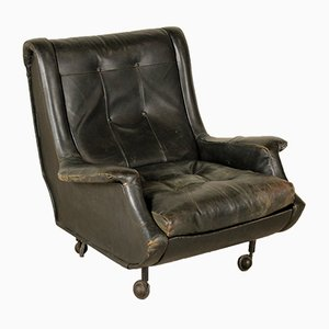 Vintage Regent Armchair in Leather by Marco Zanuso for Arflex, 1960s