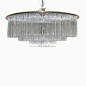 Lámpara de techo italiana de Gaetano Sciolari, años 70