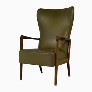 Vintage Danish Wing Chair by Soren Hansen for Fritz Hansen