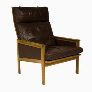 Schwarzer Dänischer Vintage Capella Sessel mit Hoher Rückenlehne von Illum Wikkelsø für Eilersen
