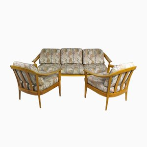 Set da salotto vintage in ciliegio di Wilhelm Knoll per Knoll Inc. / Knoll International, Germania