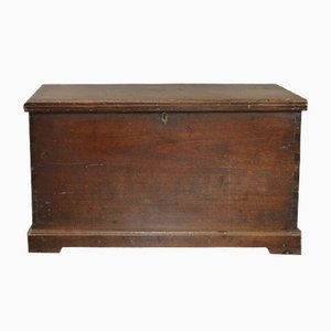 Antique 19th Century Solid Teak Blanket Box