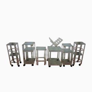 Set à 7 Pièces en Lucite avec Chariots et Table d'Appoint, Espgne, 1980s
