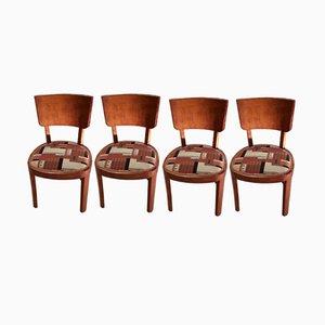 Italienische Vintage Wurzelholz Stühle, 4er Set
