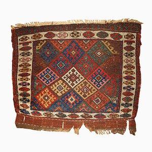 Tapis Bag Face Antique Fait à la Main, Moyen-Orient, 1880s