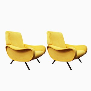 Fauteuils Lady Mid-Century Jaune Moutarde par Marco Zanuso for Arflex, Set de 2