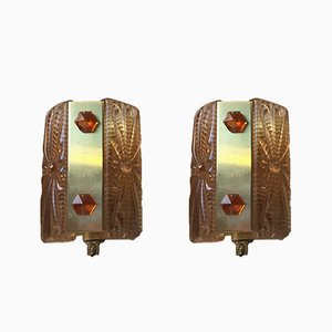 Mid-Century Modern Danish Wall Lamps by Vitrika, 1960s, Set of 2
