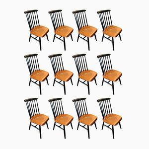 Fanett Chairs by Ilmari Tapiovaara, 1950s, Set of 12
