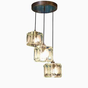 Vintage Glass Chandelier by Max Ingrand