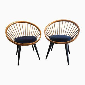Mid-Century Cocktail Chairs by Yngve Ekstrom, Set of 2
