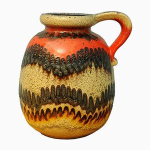 Jarrón de Alemania Occidental de cerámica, años 60