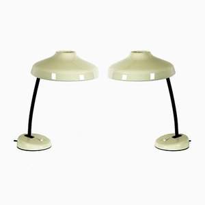 French Adjustable Table Lamps, 1950s, Set of 2