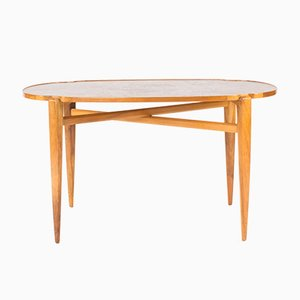 Walnut Root Coffee Table by Axel Larsson for Hjalmar Jackson, 1940s