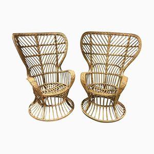 Wicker Armchairs by Lio Carminati, 1960s, Set of 2