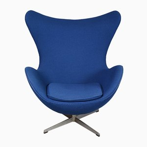Fabric Egg Chair by Arne Jacobsen for Fritz Hansen, 1970s