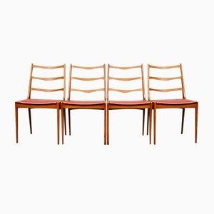 Chaises de Salon Mid-Century en Teck par Kai Kristiansen pour Korup, Danemark, Set de 4