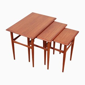 Tables Gigognes Mid-Century en Teck, Scandinavie, 1950s