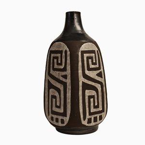 Belgische Vase in Schwarz & Weiß von Keramar