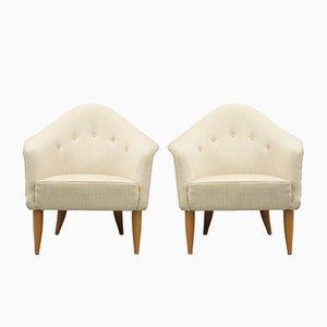 Vintage Little Adam Lounge Chairs by Kerstin Hörlin-Holmquist for Nordiska Kompaniet, Set of 2