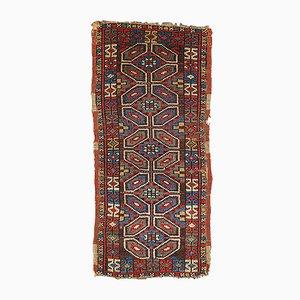 Alfombra Yastik turca antigua hecha a mano, década de 1880