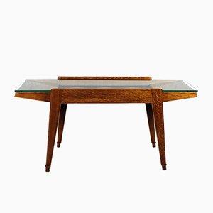 Table Basse avec Marquetterie en Chêne, 1940s