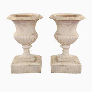 Urnes Antiques en Marbre, 1860s, Set de 2