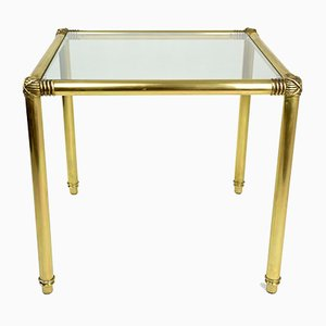 Vintage French Brass Coffee Table, 1970s