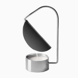 Candle Holder in Silver Plated Metal by Tomas Kral, 2016