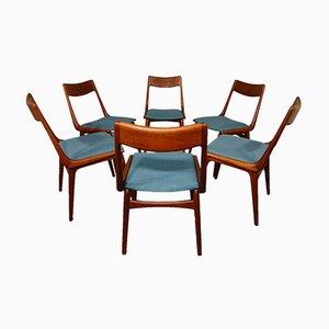 Vintage Boomerang Esszimmerstühle von Alfred Christensen für Slagelse Møbelværk, 6er Set