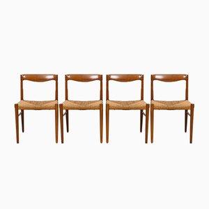 Chaises de Salon en Teck et Palissandre par H.W. Klein pour Bramin, 1960s, Set de 4
