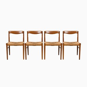 Teak & Rosewood Dining Chairs by H.W. Klein for Bramin, 1960s, Set of 4