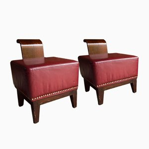French Art Deco Cocktail Chairs, Set of 2