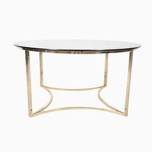 Tavolino da caffè Mid-Century in ottone e vetro