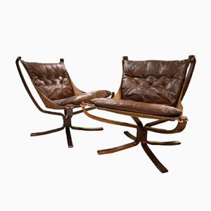 Danish Vintage Falcon Chairs by Sigurd Ressell, Set of 2