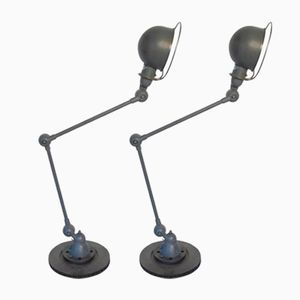 French Industrial Two-Arm Table Lamps from Jieldé, Set of 2