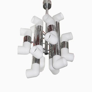 Modernist Pop Art Chandelier from Mazzega, 1970s