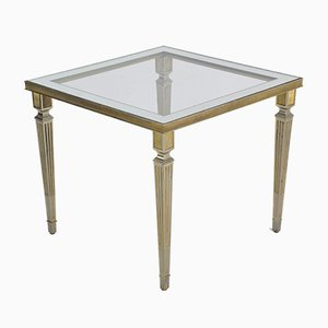 Table Plaquée Argent, France, 1970s