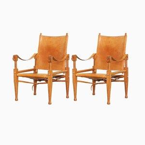 Safari Lounge Chairs by Wilhelm Kienzle for Wohnbedarf, 1950s, Set of 2