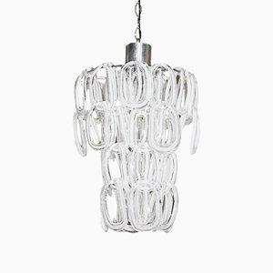 Lámpara de araña de cristal de Murano de Angelo Mangiarotti, años 70