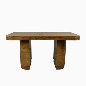 Art Deco Satinholz Tisch, 1920er