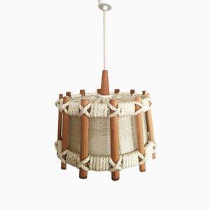 Lámpara colgante escandinava con cuerdas, años 60