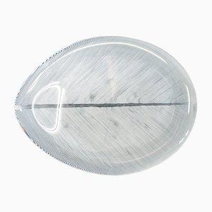Mid-Century Comb Cut Glass Bowl by Tapio Wirkkala for Iittala