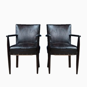 19th Century Louis XV Library Chairs, Set of 2