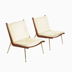 Mid-Century FD 134 Boomerang Chairs by Peter Hvidt & Orla Mølgaard-Nielsen for France & Søn, Set of 2