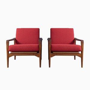 Schwedische Armlehnstühle von Ulferts Fabriker, 1960er, 2er Set