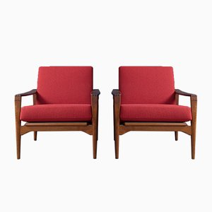 Swedish Lounge Chairs No. 23 by Illum Wikkelso for N. Eilersen, 1960s, Set of 2