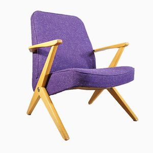 Mid-Century Beech Easy Chair by Bengt Ruda for Nordiska Kompaniet