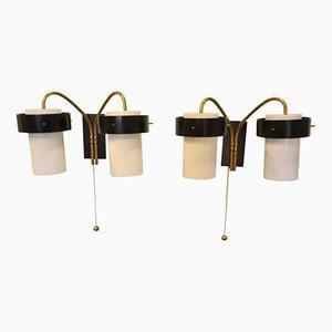 Italian Double Lighting Sconces from Stilnovo, 1960s, Set of 2